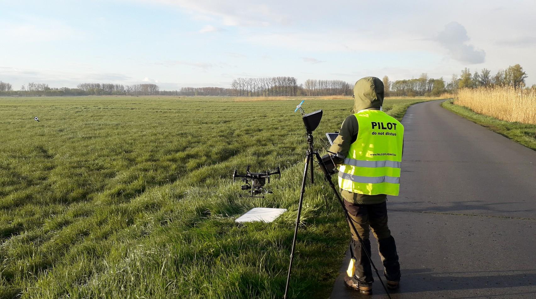 Drone zoekt weidevogelnesten in Berlare