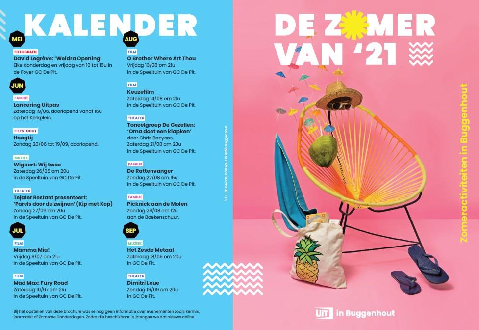 Brochure met evenementen in Buggenhout