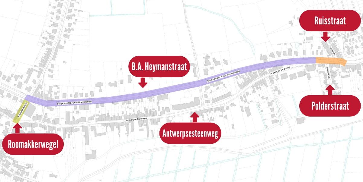 Riolerings- en wegenwerken Antwerpsesteenweg Tielrode