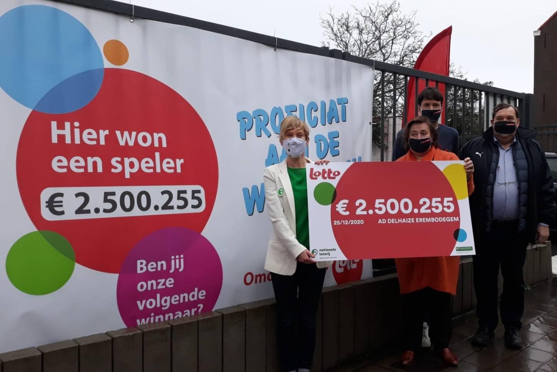 Een Lotto-miljonair die 2,5 miljoen euro wint in Erembodegem