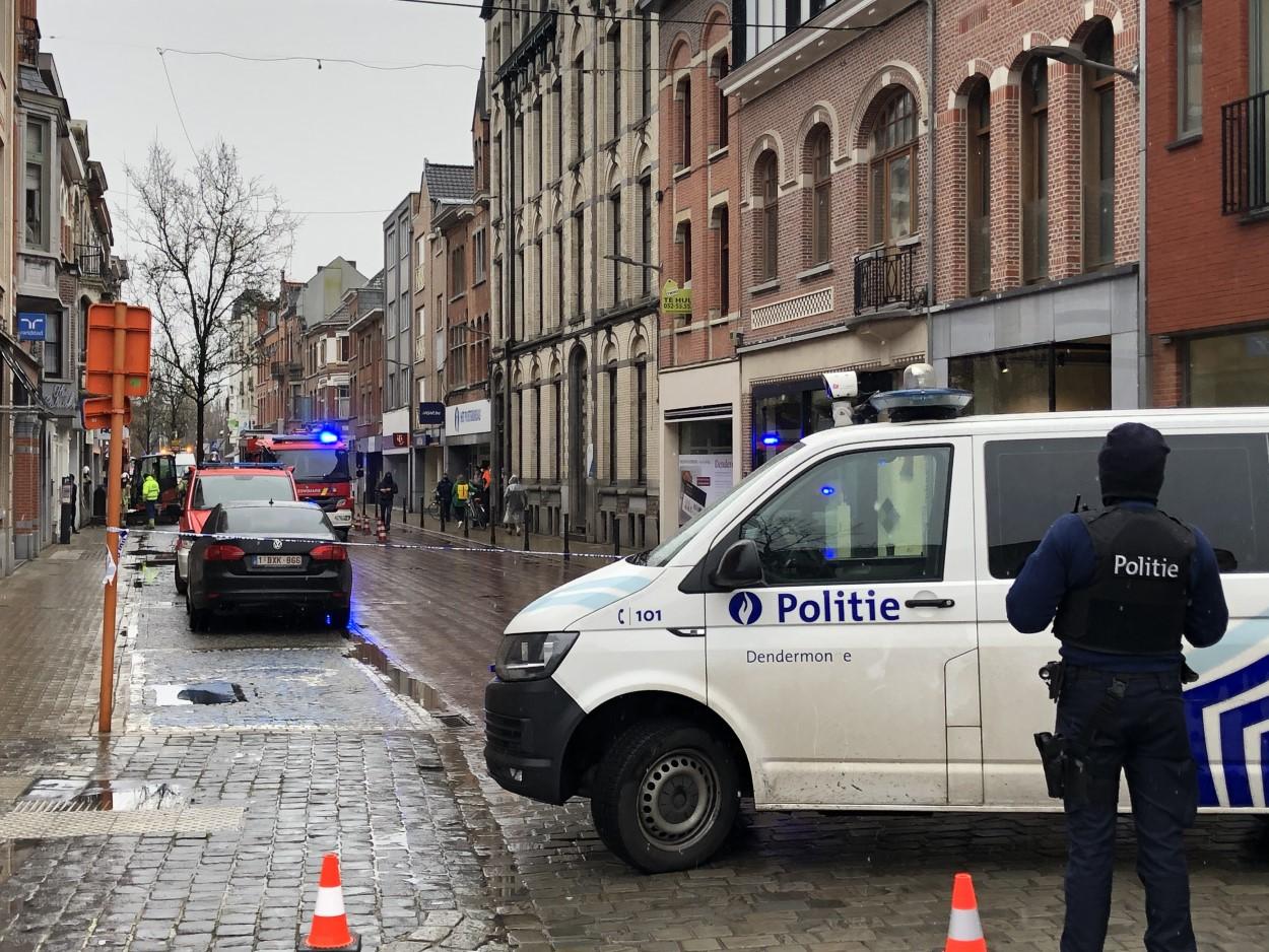 Gaslek in Brusselsestraat te Dendermonde