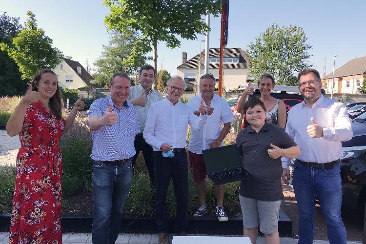 Laptopactie in Buggenhout is een groot succes
