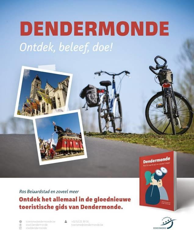 Dendermonde lanceert nieuwe, aangepaste toeristische gids